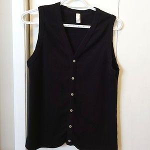American Apparel Sweater Vest Black M